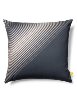 Half blue cushion