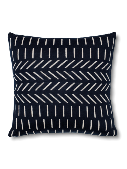 Cushion knitted Peace blue