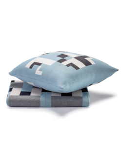 Blanket and cushion / set Cross & Folk