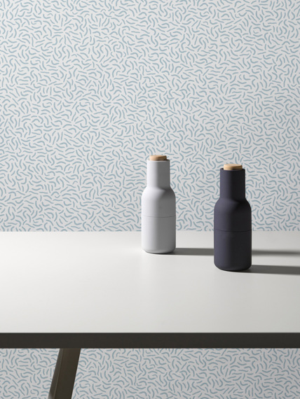 Sample of wallpaper Move blue