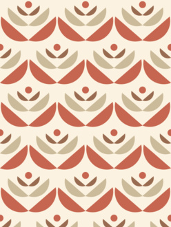 Cookies red sample of wallpaper