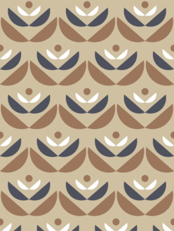 Cookies brown sample of wallpaper
