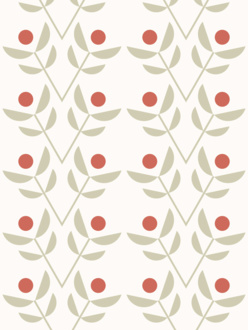 Park red sample of wallpaper