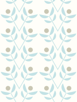 Park blue sample of wallpaper