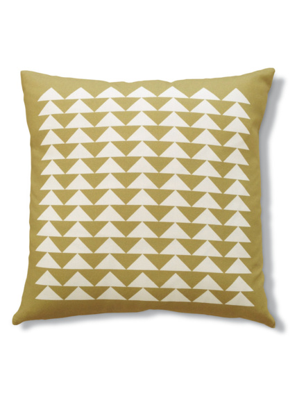 Triangles yellow cushion