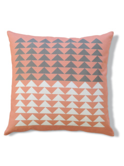 Triangles pink cushion
