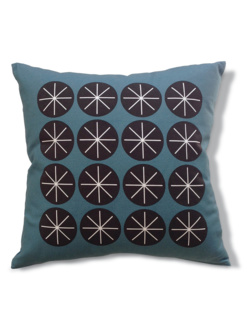 Stars blue cushion