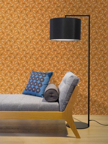 Sample of wallpaper Matches cinnamon