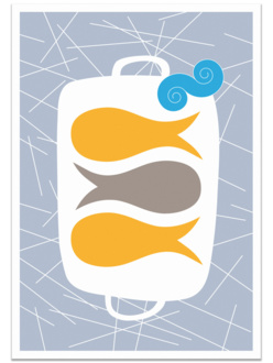 Umami Fish tea towel