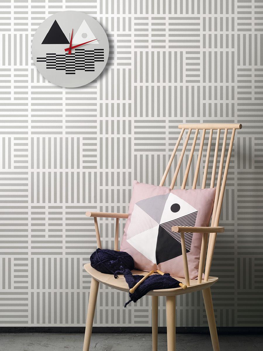 Newspaper Grey Mural Wallpaper Lavmi