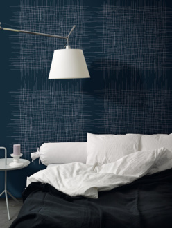 Twigs blue mural wallpaper
