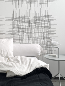 Twigs white mural wallpaper