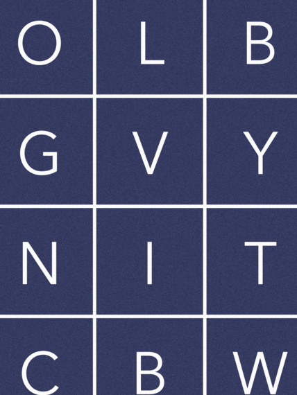 Wallpaper Glyphs blue