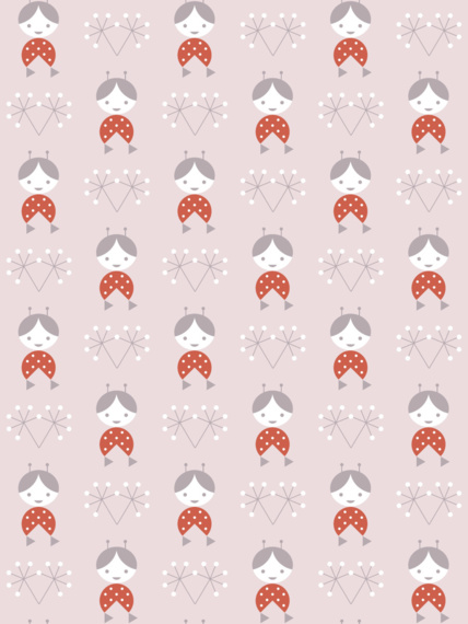 Wallpaper Žofka pink