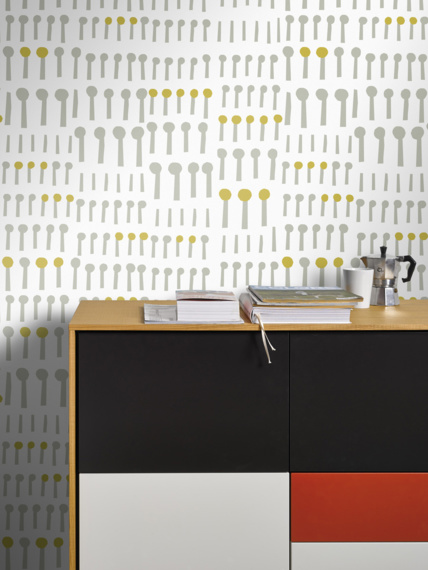 Together white sample of wallpaper