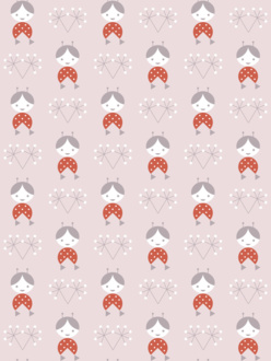 Sample of wallpaper Žofka pink