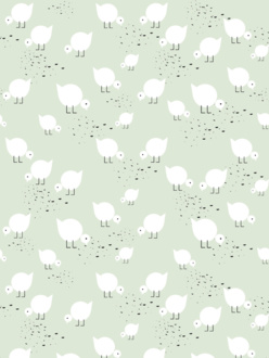 Sample of wallpaper Juli mint