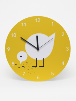 Clock Juli yellow