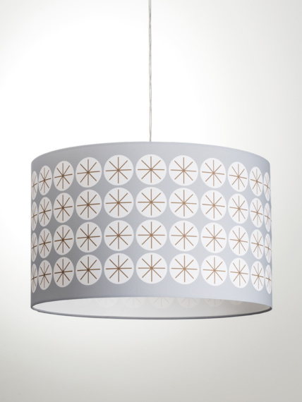Lampshade Stars grey