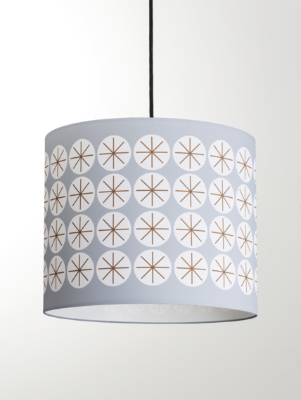 Stars grey lampshade