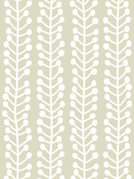 Herbs beige wallpaper 1 m