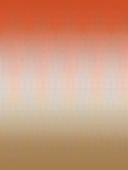 Fog ochre-red mural wallpaper