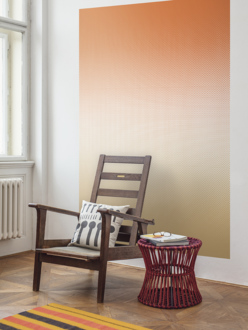 Mural wallpaper Fog ochre-red