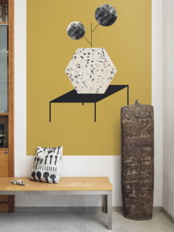 Mural wallpaper Table ochre