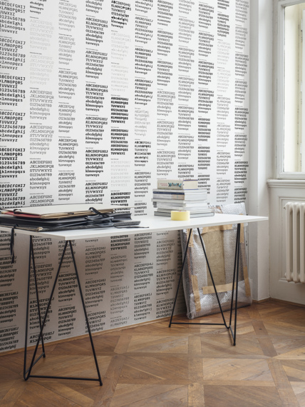 Mural wallpaper Type Foundry